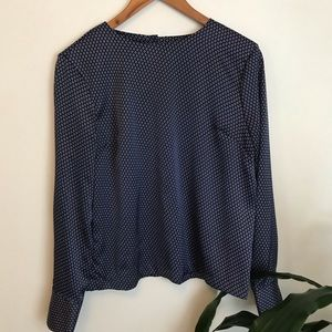 💖  BANANA REPUBLIC blue long sleeve blouse